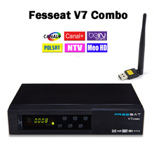 Freesat V7 DVB Combo DVB-S2 DVB-T2 Satellite Receptor Terrestrial Decoder with PowerVu Biss Key Cccam wifi and USB WIFI device