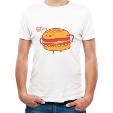 Hamburgers Print Mens T-Shirts Short Sleeves DO MY HUNS LOOK BIG Letter Graphics Camisetas Mens Causal Food Tee Shirts Homme