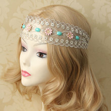 Bohemian Little Fresh Lace Flower Hair Band Head Scarf National Wind Fashion Retro Jewelry(China)