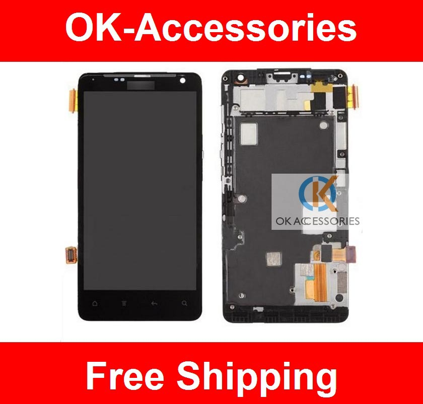Black Color Touch Screen Digitizer+LCD  Display For HTC G19 Raider 4G With Frame 1PC /Lot Free Shipping<br><br>Aliexpress