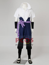 Best Set~  Naruto Sasuke Uchiha Cosplay Costume & Shoes mp002861