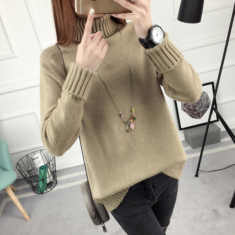 Winter Turtleneck Sweater, Women's 2017 New Design Thick Pullover 24
