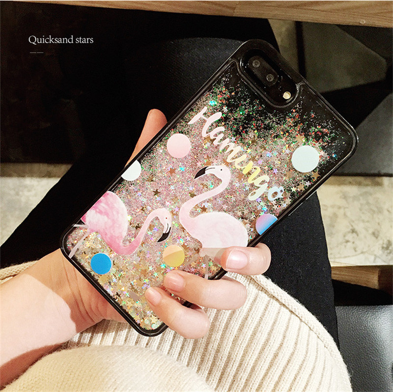 for Cute Korean iPhone Cases 7 Plus Cartoon Glitter Bling Cell Phone Skin Case for iPhone 6 6s Plus 8 8 Plus Plastic 6plus 151S(China)