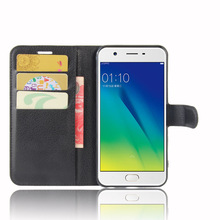 Buy A57 Case OPPO A57 Cases Wallet Card Stent Lichee Pattern Flip Leather Covers Protect Cover black 57 OPPO57 for $4.74 in AliExpress store