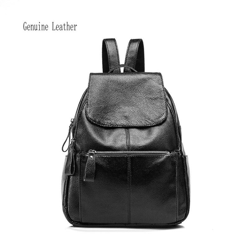 backpack women bag Women Backpack Shoulder Bag Fashion cowhide Leather backpack Students shoulders high quality High capacity<br>