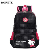 Hello Kitty Children School Bags for girl Waterproof Kids Backpacks Mochilas Primary Cartoon Backpack Kid Bag Lovely Baby Bag