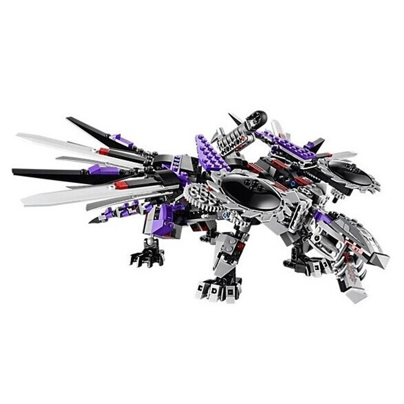 690pcs 10224 Ninja Nindroid Mech Dragon Building Blocks Set Toys Compatible figures Ninja Blocks Toys for Children festival Gift<br>