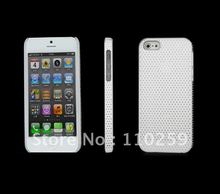 Factory directly price ,Mesh Hole Thin Net Case For iPhone 5 5G  Freeshipping,Mesh Chromatic Back Cover, Net Cover