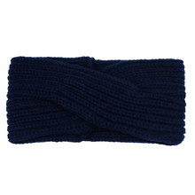 Cross Knitting Woolen Weaving Headband (navy blue)(China)