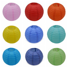 5pcs 10/15/20/25/30CM Chinese Style Tissue Paper Lantern Lampion Ball Round Hanging Paper Ball For Home Wedding Party Decoration