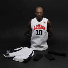 1/6 Scale Kobe Bryant Basketball Suit Model Dream Team No.10 Sport Suit for 12 inches Male EB Body Figure Accessories