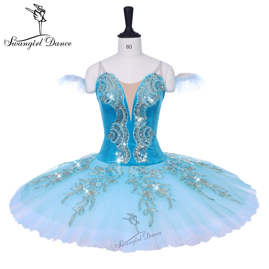 adult green green sleeping beauty variation professional tutu child competiton performance ballet stage costumes girls BT9153B