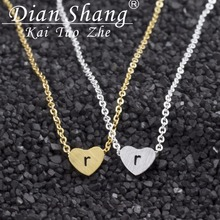 DIANSHANGKAITUOZHE Birthday Gifts 10Pcs Lot Cute Tiny Heart Pendant Necklaces For Women Statement Jewellery Name r Colar Vintage