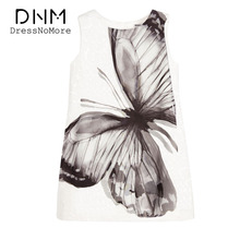 Girls Dress Summer Children Dresses Sleeveless White Butterfly Printing Girl Evening Dress Kids Ball Gowns Girls Clothes