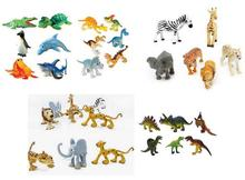 6Pcs Animal Kingdom Action Figures Static Model Toy-Dinosaur Marine Life Forest Animals