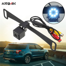 KROAK Universal Car Reversing Backup License Number Plate Frame Rear View Camera Night Vision(China)