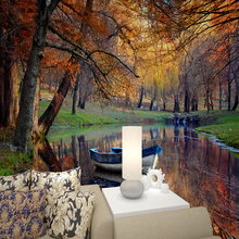 3D beautiful autumn woods forests wallpaper living rooms  bedrooms television backdrop wall paper mural
