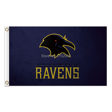 Black Baltimore Ravens Flag Banner Football Banners Super Bowl Champions 3ft X 5ft 100D Polyester Banner(China)