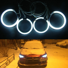 White Blue Red Green Multi-color CCFL Angel Eyes kit Halo Ring kit For Mitsubishi Lancer X Evo X 10 2007-2015 Halogen headlight