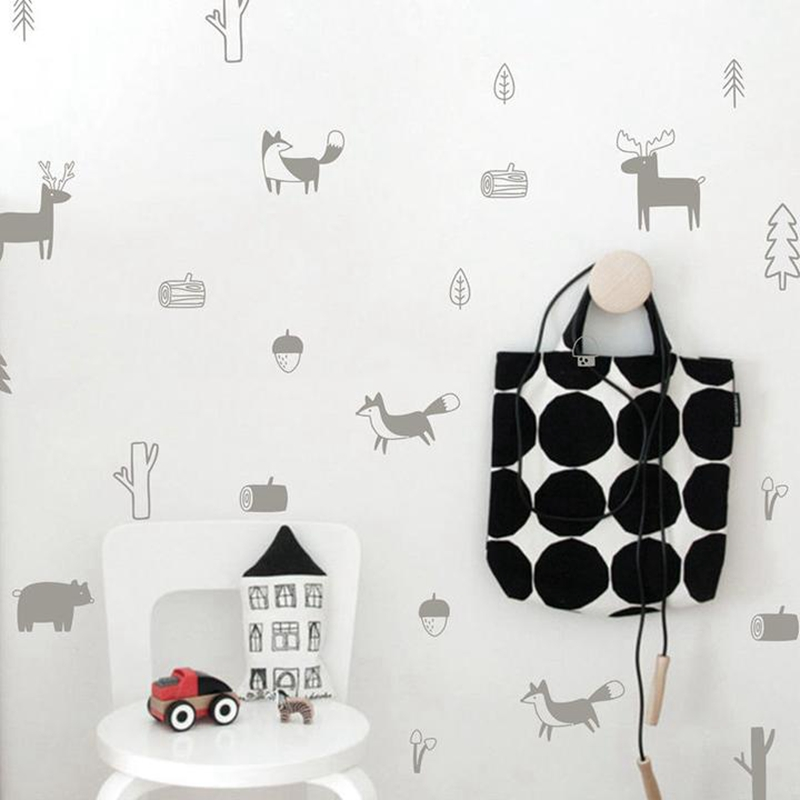 HTB1c5u9aXHFK1JjSZFzq6z23XXaH - Nordic Style Forest Animal Wall Decal For kids rooms