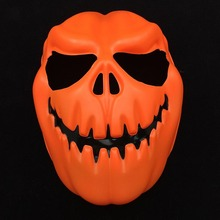Hallowe Party Pumpkin Ghost Mask Orange Pumpkin Party Masks Full Face Skeleton Horror Mask Full Face Masquerade Costume