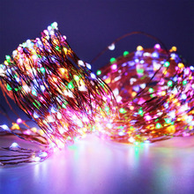 10pcsx50M 165FT 500LEDs extra long Copper Wire String Light,LED Starry Rope Lights Include Power Adapter (UK, US, EU, AU Plug)(China)