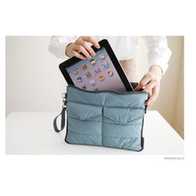 New Travel Lightweight Washable Tablet PC Padded Sleeve Storage Bag Handle Organizer Pouch for ipad mini GPS PM3 Snow