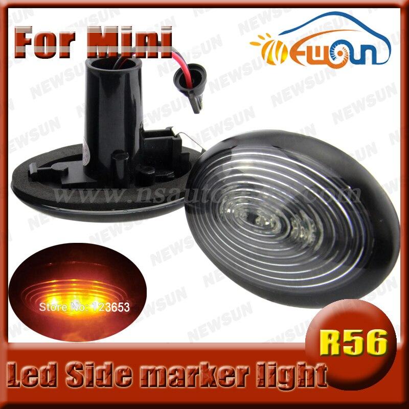 2X Newest LED Side Marker light ,Amber color  Mini R56 led fender turn signals LED side markers for BMW<br>
