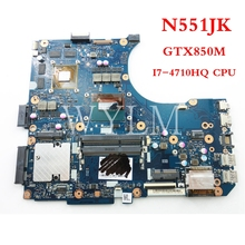 Buy FREE SHIPPING N551JK I7-4710HQ CPU GTX850M mainboard ASUS N551JM N551JK laptop motherboard 90NB05T0-R00010 Tested Working for $210.99 in AliExpress store