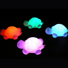 Coquimbo 10 PCS Color Changing LED Night Light Lovely Turtle Shape Night Lamp Built In 3 Button Cute Children Luminaria(China)