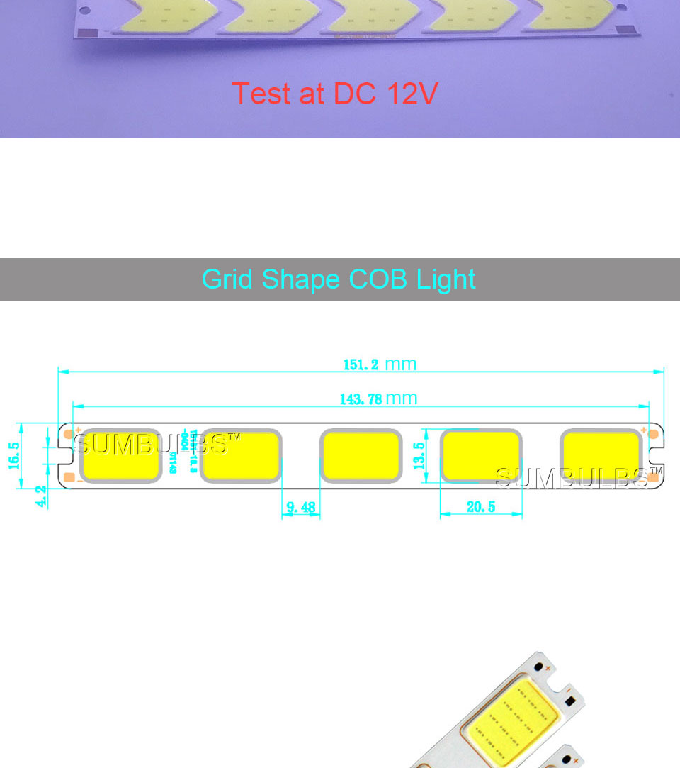 Special Shape COB LED Light Strip DC 12V 5W 6W Cold White LED Bulb with Star Grid Arrow Shape DIY Work Home Car Decor Lighting (10)