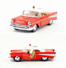 Candice guo Chevrolet bel air fire chief police No.22 vehicle Diecast motor alloy model city protect car toy birthday gift 1pc