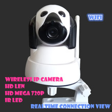 2016 Hot 720P HD H.264 Webcam WIFI Camera IP Easy to Use Wireless Security System Free Software Accessories support memory card