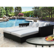 Modern patio rattan outdoor pool bed