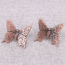 Antique Bronze Butterfly Cabinet Knob Kitchen Handle Drawer Pull  Vintage handle pull for furniture drawers cupboard doors
