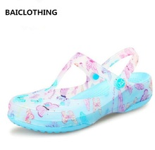 BAICLOTHING sandalias de mujer women plus size sexy sandals lady cute spring summer slip on sandals female casual beach sandals(China)