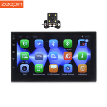 Zeepin 7002 Android 6.0 2Din Car DVD Player 7 Inch Touch Screen Multimedia Player Built In GPS/Wifi/Bluetooth Camera Available