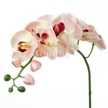 New 1 Piece Artificia ldecorative flower Butterfly Orchid Flower Plant  DIY Creative Home Party Decoration Pink