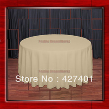 "Hot Sale 120""R Camle 210GSM Polyester plain Table Cloth For Wedding Events & Party Decoration(Supplier)(China)"