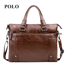 New Brand POLO men's leather messenger bags vintage crossbody bag men shoulder bag postman briefcase male Handbags
