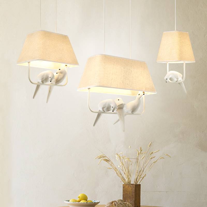Modern Home Decoration Bird Pendant Lights For Dining Room Bar Bedroom Cloth Iron country style Pendant lamp Lighting Fixture<br>