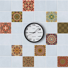 10pcs 20x20cm DIY Mosaic Wall Tiles Stickers Waist Line Wall Sticker Kitchen Adhesive Bathroom Toilet Waterproof PVC Wallpaper(China)