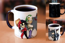 Drop shipping Batman family mugs office coffee mup cold hot heat sensitive mug color changing mug best gift mugs