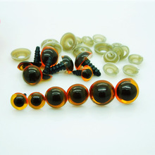 50pcs 10mm 12mm 14mm Plastic Safety Eyes Red/Brown Transparent Colors for Amigurumi or crochet doll Animal Puppet Making