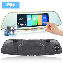 "Dual Lens Car Camera 7"" Touch Screen Rearview Mirror Auto DVRs Cars Dvr Full HD1080p Night Vision Recorder Registrator Dash Cam(China)"