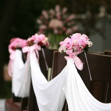 Table Swag Fabric Chair Sash lawn beach Wedding church Car Stair Bow Valance bridal shower birthday Party Decoration backdrop(China)