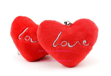 1X Wedding Love Heart 7CM Plush Stuffed TOY DOLL - Bouquet Plush Toy , Lover's Gift String Charm Pendant Plush DOLL TOY(China)