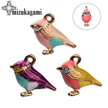 9*13mm Alloy Charms Animal Pendant 3D Bird Cute Animal Drops Oil Handmade Charms Pendant For DIY Necklace Jewelry Accessories(China)