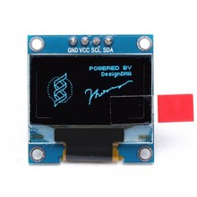 Hot New 1PC DC3V-5V 128x64 0.96 Inch 4Pin IIC I2C Blue OLED Display Module For Arduino 29.28 x 27.1 mm (LW)(China)