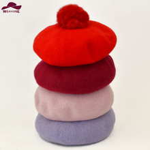 New 2015 Casual Autumn&Winter Women's Soft Warm Design stereoscopic Berets Felt French Artist Beanies Tam Baggy Hats Ski Caps(China)